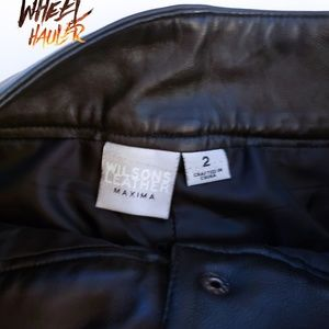 Wilsons Leather Pants - Wilsons Leather Maxima Black Leather Pants